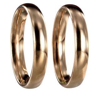 【送料無料】ブレスレット ステンレススチールローズゴールデンリング2 x anello in acciaio inossidabile rose golden fedine fedi nuziali fede incisione 20032