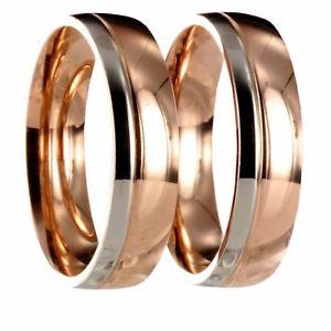 【送料無料】ブレスレット ステンレススチールシルバーゴールドパートナーピンクリング2 x acciaio inox bicolori argentooro rosa partner anello fede incl incisione 20p166
