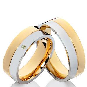 【送料無料】ブレスレット ステンレスリングペリドットリング2 anelli in acciaio inossidabile fedi vere fedi nuziali con peridot e incisione pp83