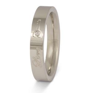 【送料無料】ブレスレット ステンレススチールリングパートナーpartner da donna anello in acciaio inox con la sua grafia come incisione pe180d