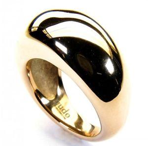 【送料無料】ブレスレット ステンレススチールドームリングゴールデンローズqudo in acciaio inox dome anello rose dorato sr190