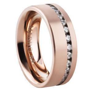 【送料無料】ブレスレット anello da donna anello di fidanzamento domanda anello in acciaio inox con zirconi e incisione 2838d