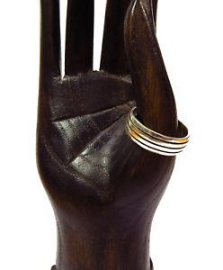 【送料無料】ブレスレット シルバーリングリングストリップサイズリングun anello argento 925 anello div dimensioni anello da uomo strisce massello finitura nuovo