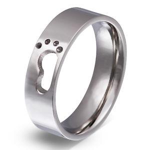【送料無料】ブレスレット ステンレスパートナーリングpartner uomo anello in acciaio inox con la sua grafia come incisione pe164h