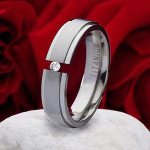 【送料無料】ブレスレット チタンリングリングリングホルダーリングanello di fidanzamento domanda anello titanio anello con zirconi anello astuccio anello incisione tz24