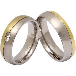 【送料無料】ブレスレット チタンdue anelli di fidanzamento elegante, vere fedi, al titaniot14hd