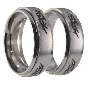 【送料無料】ブレスレット ステンレススチールリング2 anelli in acciaio inossidabile fedi nuziali con incisione 20035