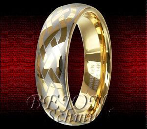 【送料無料】ブレスレット タングステンタングステンリングゴールデンノット* nuovo * 8mm tungsteno anello tungsteno keltisches design * golden knot 8 *