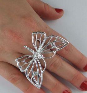 【送料無料】ブレスレット シルバーリングクリスタルバタフライクリスタルjoliko anello argento kristal farfalla crystal dream butterfly motivo unigre