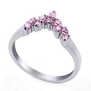 【送料無料】ブレスレット ピンクリングargento sterling matrimonio amp; anello di fidanzamento rosa cz donna anello mm