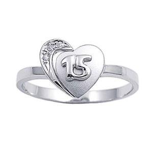 【送料無料】ブレスレット エンゲージリングクリアリングargento sterling matrimonio amp; anello di fidanzamento chiaro cz cuore anello di 15 anni
