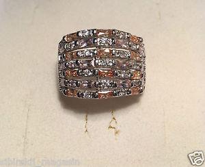 【送料無料】ブレスレット anello dimensioni 10 zirconia bianco, rosa, giallo, argentati 0056