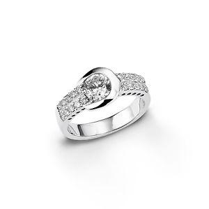 【送料無料】ブレスレット アモールリングシルバーamor anello con zirconi argento 925