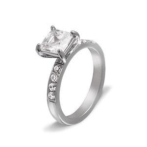 【送料無料】ブレスレット ステンレスリングdonna anello di fidanzamento in acciaio inox con la sua grafia come incisione pe242d