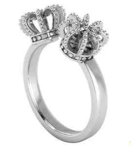 【送料無料】ブレスレット アニカシルバーオープンリングサイズパワーロイヤルannika plum aperto anellianelli corona argento taglia 52 power of royal 100452
