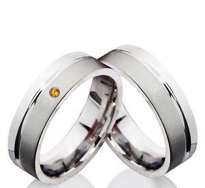 【送料無料】ブレスレット ステンレススチール2 vere fedi nuziali in acciaio inox fedi con citrin e anelli incisione z136