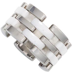 【送料無料】ブレスレット anello da donna in acciaio inox larga con ceramica combina anello in ceramica