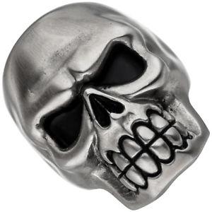 【送料無料】ブレスレット リングスカルスカルステンレススチールマットブラックリングanello teschio cranio skull teschio anello in acciaio inox nera opaca depositi