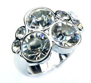 【送料無料】ブレスレット スワロフスキークリスタルリングホワイトcrystalp anello con swarovski cristalli bianco cryr 106