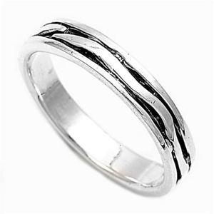【送料無料】ブレスレット argento sterling matrimonio amp; anello di fidanzamento anello testurizzato