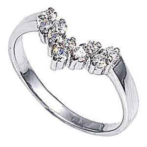 【送料無料】ブレスレット エンゲージリングリングクリアargento sterling matrimonio amp; anello di fidanzamento chiaro cz donna anello mm