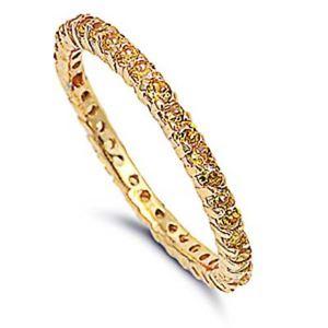 【送料無料】ブレスレット イエローリングargento sterling matrimonio amp; anello di fidanzamento giallo cz eternity anello
