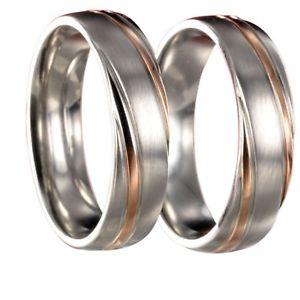 【送料無料】ブレスレット 2 anelli in acciaio inossidabile rosegoldargento fedine con incisione interna 20p180
