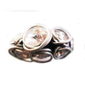 【送料無料】ブレスレット リングツイストシンホワイトkonplott anello sparkle twist bianco sottile 7840