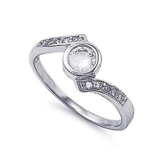 【送料無料】ブレスレット クリアリングargento sterling matrimonio amp; anello di fidanzamento chiaro cz donna anello