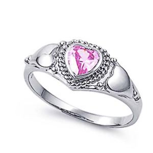【送料無料】ブレスレット ピンクリングハートargento sterling matrimonio amp; anello di fidanzamento rosa cz donna anello cuore