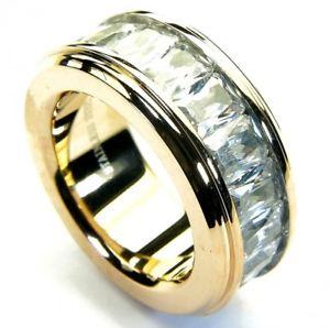 【送料無料】ブレスレット ベルトステンレススチールリングゴールデンローズnastro in acciaio inox anello rose dorato con zirconi sr187