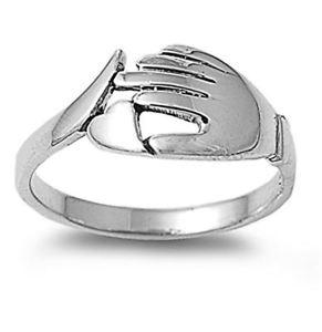 【送料無料】ブレスレット リングargento sterling matrimonio amp; anello di fidanzamento anello a mano