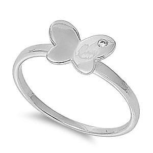 【送料無料】ブレスレット リングargento sterling matrimonio amp; anello di fidanzamento anello cz farfalla