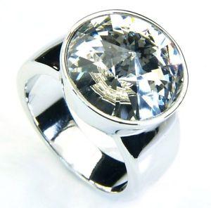 【送料無料】ブレスレット リングスワロフスキークリスタルホワイトcrystalp anello con cristallo swarovski bianco cryr 105