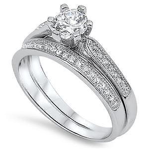 【送料無料】ブレスレット スターリングシルバーセットsterling silver cz anello nuziale set
