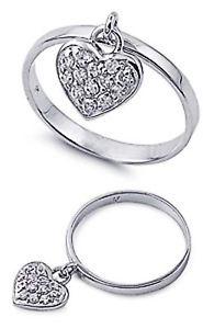 【送料無料】ブレスレット エンゲージリングクリアハートペンダントリングargento sterling matrimonio amp; anello di fidanzamento chiaro cz cuore ciondolo anello