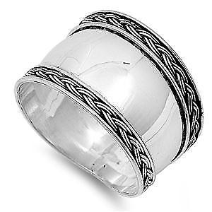 【送料無料】ブレスレット スターリングシルバーバリリングデザインargento sterling bali anello di design