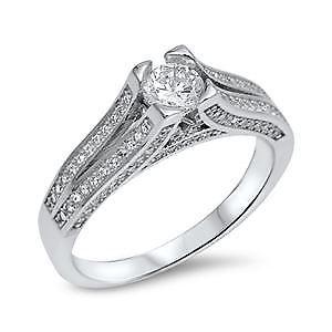 【送料無料】ブレスレット スターリングシルバーリングsterling silver cz ring