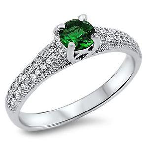 【送料無料】ブレスレット argento sterling smeraldo cz anello di fidanzamento