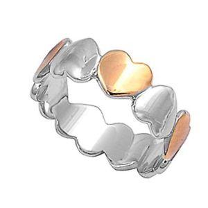 【送料無料】ブレスレット リングargento sterling matrimonio amp; anello di fidanzamento anello bicolore