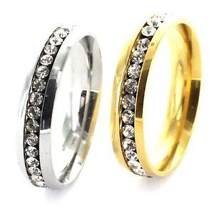【送料無料】ブレスレット ステンレススチールリングカラーセレクタin acciaio inox anello da donnaanello di fidanzamento con strass selettore colori desiderio incisione