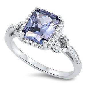 【送料無料】ブレスレット sterling silver cz tanzanite anello di fidanzamento