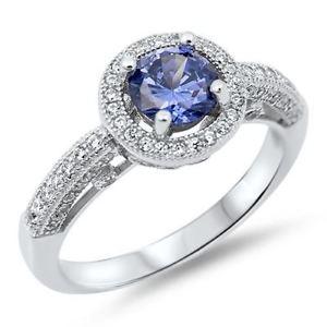 【送料無料】ブレスレット スターリングシルバータンザナイトlittle treasures sterling silver cz tanzanite engagement ring