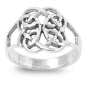 【送料無料】ブレスレット ケルトリングsterling silver wedding amp; engagement ring  celtic ring