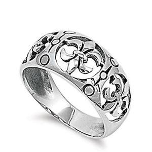 【送料無料】ブレスレット リングargento sterling matrimonio amp; anello di fidanzamento anello fleur de lise