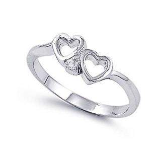 【送料無料】ブレスレット エンゲージリングクリアハートリングargento sterling matrimonio amp; anello di fidanzamento chiaro cz cuore anello