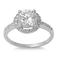 【送料無料】ブレスレット sterling silver cz engagement ring