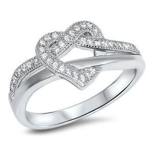 【送料無料】ブレスレット スターリングシルバーハートリングlittle treasures sterling silver cz cuore anello