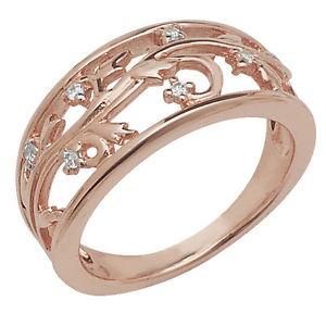【送料無料】ブレスレット イヤリングスターリングシルバーリングファンタジーピンクゴールドorecchini zirconi argento sterling anello fantasia oro rosa