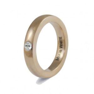 【送料無料】ブレスレット ステンレススチールマットドイツマイアミリング??miami white anello in acciaio inossidabile amii opaca rosoro opaca 58 germany donna